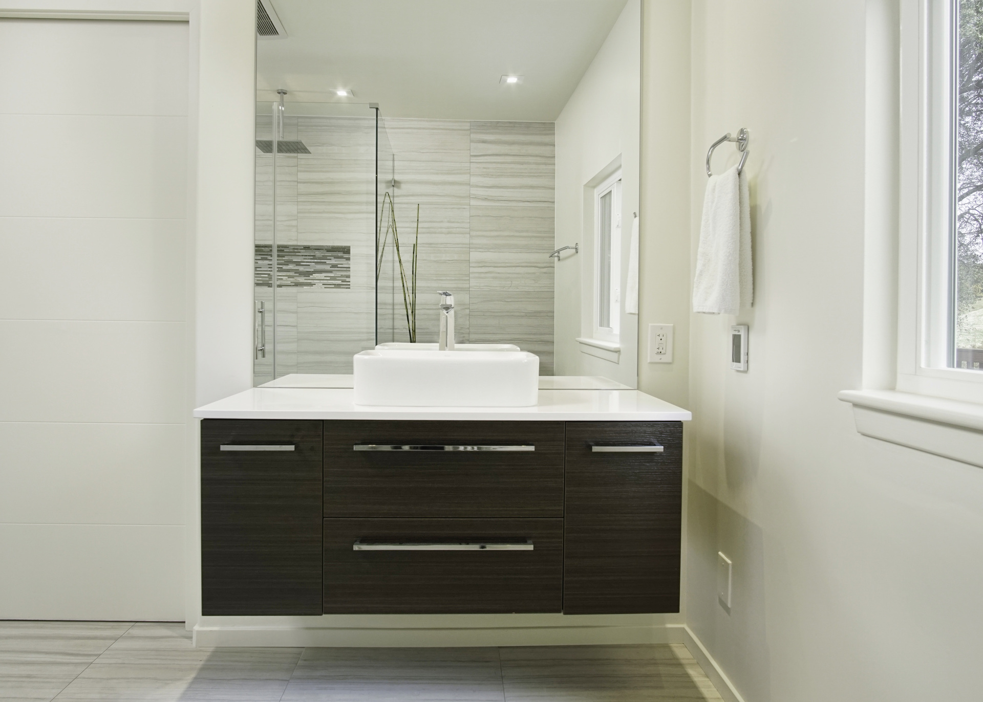 Case study bathrooms general construction remodeling for How much does a new bathroom cost 2017